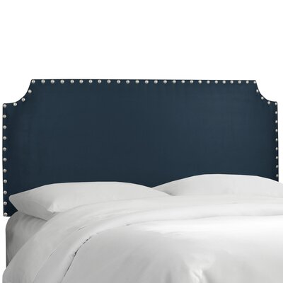 Adelia Upholstered Panel Headboard Size: Twin, Upholstery: Premier Navy