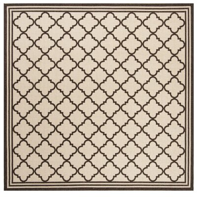 Burnell Contemporary Beige Area Rug Rug Size: Square 67