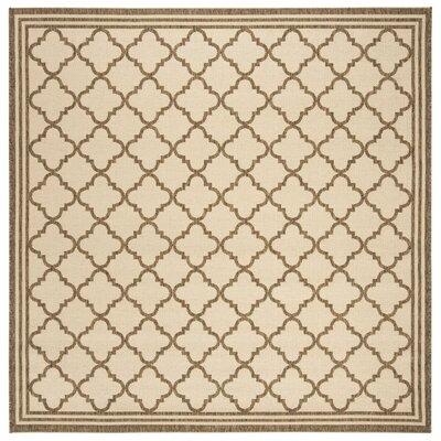 Berardi Cream/Brown Area Rug Rug Size: Square 67
