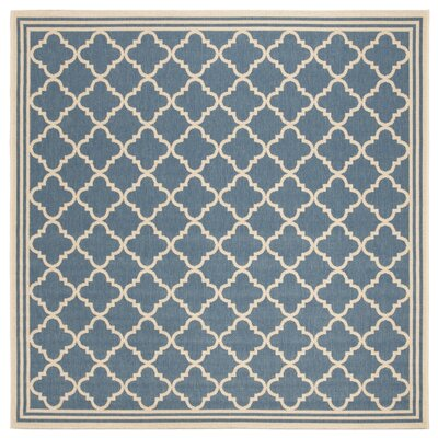 Sherell Blue/Creme Area Rug Rug Size: Square 67