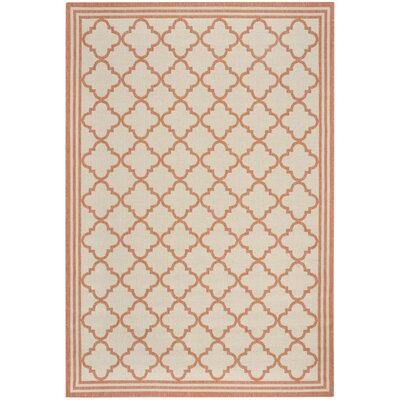 Berardi Cream/Rust Area Rug Rug Size: Rectangle 9 x 12