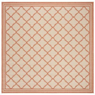 Berardi Cream/Rust Area Rug Rug Size: Square 67
