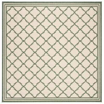 Berardi Cream/Green Area Rug Rug Size: Square 67