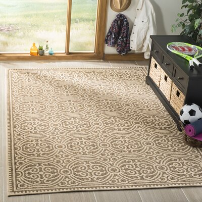 Burnell Cream/Beige Area Rug Rug Size: Rectangle 51 x 76