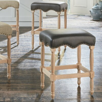 Glinda 26 Bar Stool with PU Upholstered Seat