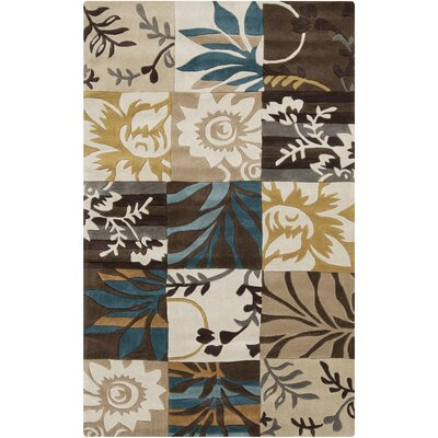Freetown Hand-Tufted Parchment/Khaki Area Rug Rug Size: Rectangle 9 x 13
