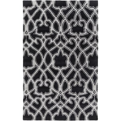 Felicia Black/Light Gray Area Rug Rug Size: Rectangle 8 x 11