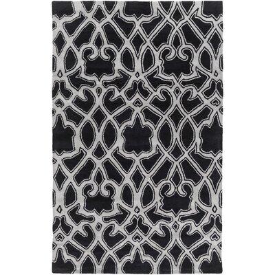 Felicia Black/Light Gray Area Rug Rug Size: Rectangle 8 x 11