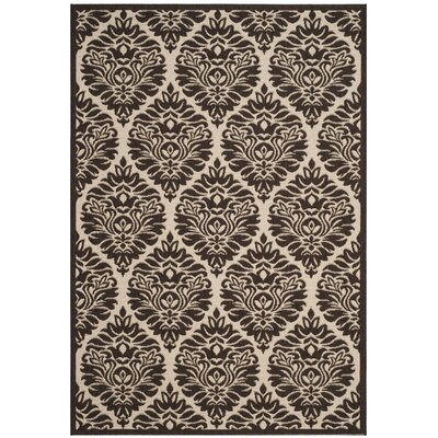 Burnell Boho Brown Area Rug Rug Size: Round 67