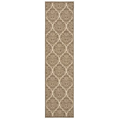 Burnell Cream/Beige Area Rug Rug Size: Runner 2 x 8