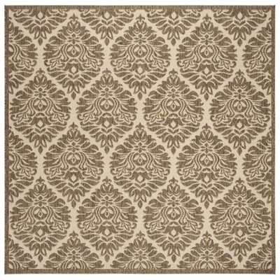 Burnell Cream/Beige Area Rug Rug Size: Square 67