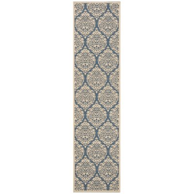 Berardi Blue/Cream Area Rug Rug Size: Runner 2 x 8