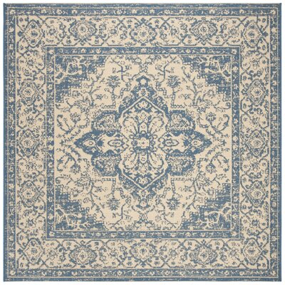 Berardi Cream/Blue Area Rug Rug Size: Square 67