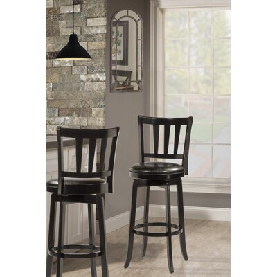 Malcolm 29.5 Swivel Bar Stool Frame Finish: Black