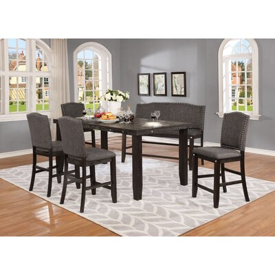 Dykstra 6 Piece Counter Height Dining Set Color: Dark Gray