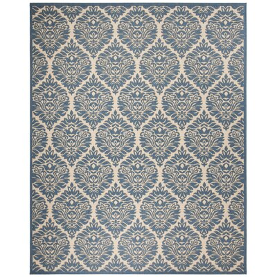Sherell Cream/Blue Area Rug Rug Size: Rectangle 8 x 10