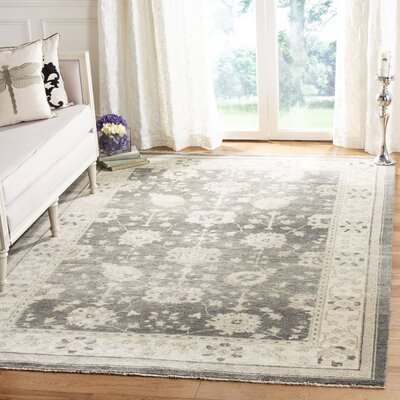 Chandler Hand-Knotted Gray/Beige Area Rug Rug Size: Rectangle 6 x 9