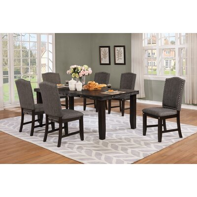 Dutchess 7 Piece Dining Set Color: Dark Gray