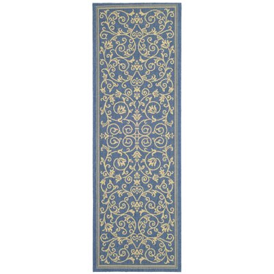 Bexton Blue/Tan Indoor/Outdoor Area Rug Rug Size: Runner 24 x 911