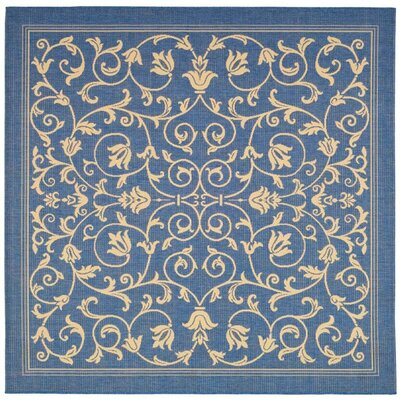 Bexton Blue/Tan Indoor/Outdoor Area Rug Rug Size: Square 67