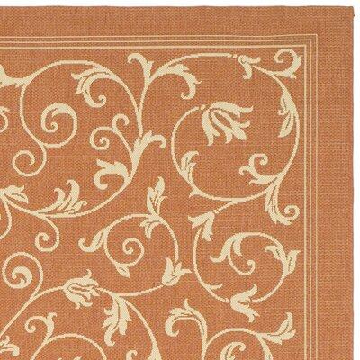 Bexton Persian Terracotta/Natural Indoor/Outdoor Area Rug Rug Size: 2 x 37