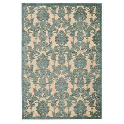 Castle Heights Teal Area Rug Rug Size: 36 x 56