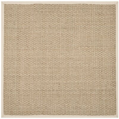 Catherine Natural/Ivory Area Rug Rug Size: Square 6