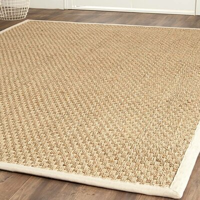 Catherine Hand-Woven Natural Area Rug Rug Size: 3 x 5