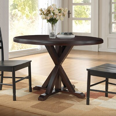 Fanning X Base Dining Table Color Espresso