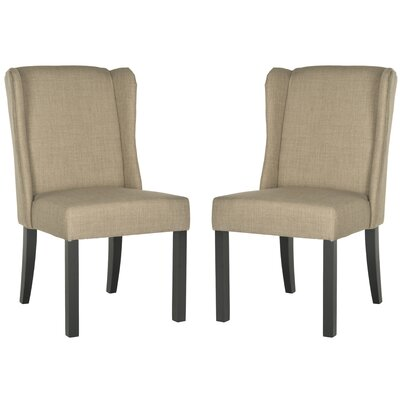 Charlottesville Wingback Slipper Chair Color: Grey