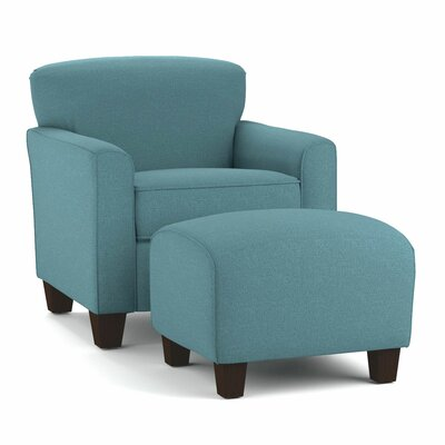 Armchair and Ottoman Upholstery: Turquoise Blue