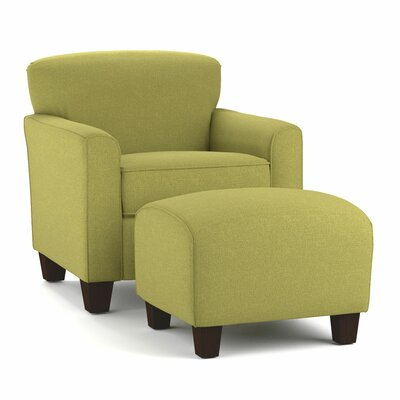 Arm Chair and Ottoman Upholstery: Green
