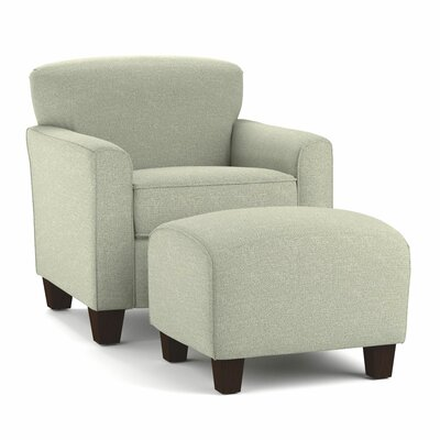 Arm Chair and Ottoman Upholstery: Barly