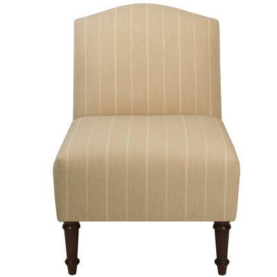 Springdale Camel Back Slipper Chair Upholstery: Fritz Dove, Nailhead Detail: No Trim