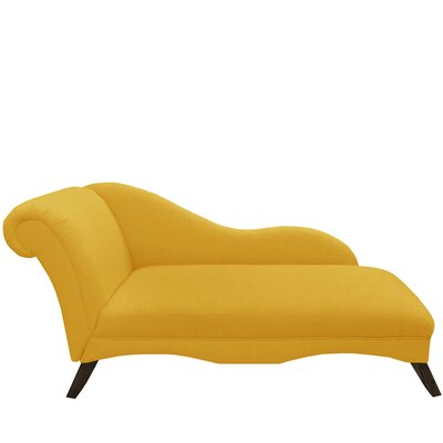 Linen Chaise Lounge Color: French Yellow