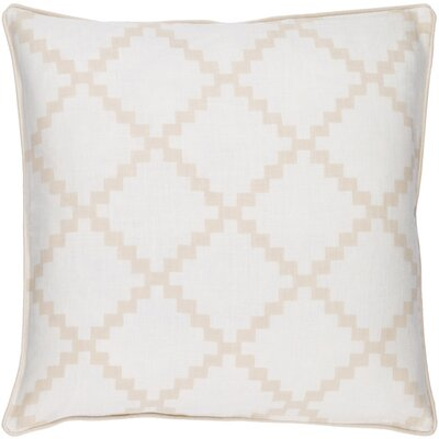Eversole Throw Pillow Size: 18 H x 18 W x 4 D, Color: Beige