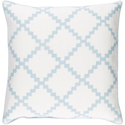 Eversole Throw Pillow Size: 18 H x 18 W x 4 D, Color: Blue