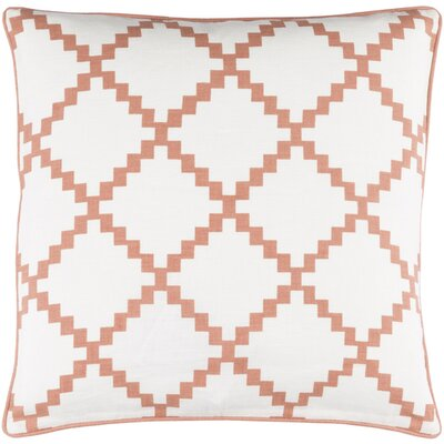 Eversole Throw Pillow Size: 18 H x 18 W x 4 D, Color: Rust