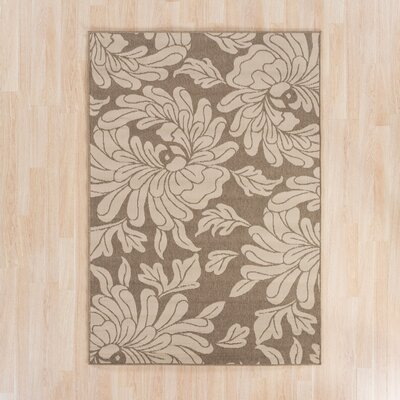 Gilead Beige/Taupe Indoor/Outdoor Floral Area Rug