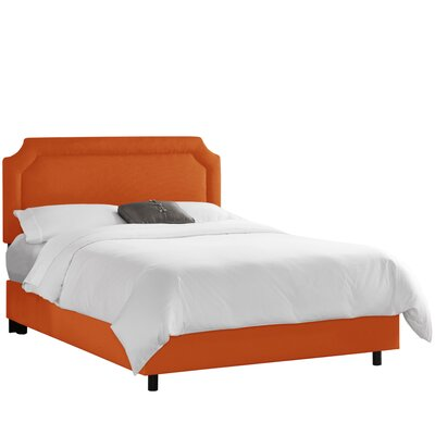 Klein Upholstered Panel Bed Size: Full, Upholstery: Klein Saffron