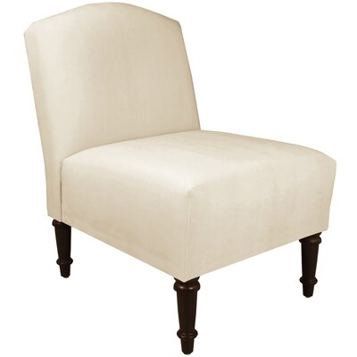 Springdale Camel Back Slipper Chair Upholstery: Regal Antique White, Nailhead Detail: No Trim