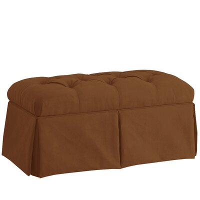 Diana Skirted Storage Bench Color: Premier Chocolate