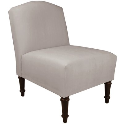 Springdale Camel Back Slipper Chair Upholstery: Mystere Dove, Nailhead Detail: No Trim
