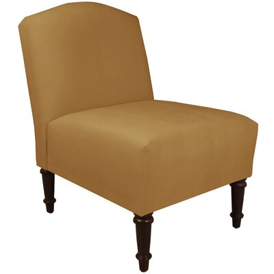 Springdale Camel Back Slipper Chair Upholstery: Mystere Moccasin, Nailhead Detail: No Trim