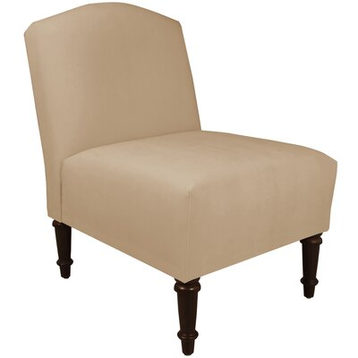 Springdale Camel Back Slipper Chair Upholstery: Premier Oatmeal, Nailhead Detail: No Trim