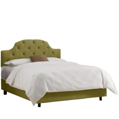Diana Upholstered Panel Bed Color: Premier Sage, Size: California King