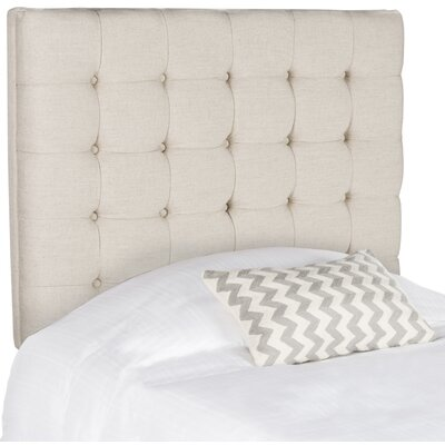 Carrie Twin Upholstered Panel Headboard Upholstery: Wheat