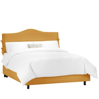Casper Upholstered Panel Bed Upholstery: Shantung Aztec, Size: Twin