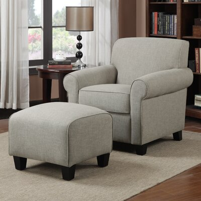 Alcott Hill Oldbury Arm Chair and Ottoman