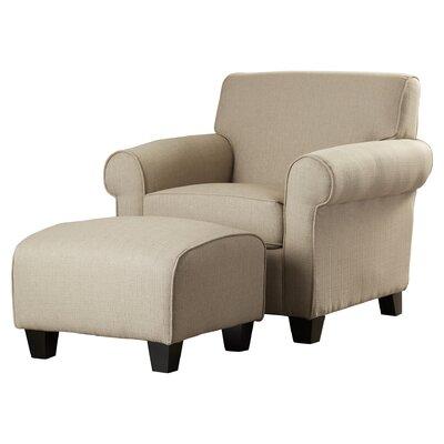 Oldbury Armchair and Ottoman Upholstery: Barley Tan